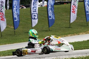 Carson Morgan ran away with the victory in KA100 Junior for four total on the weekend (Photo: EKN)