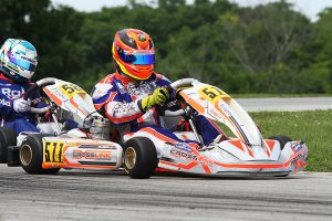 Miguel Mier slipped into the top spot on the final corner to earn his first series victory in X30 Masters (Photo: EKN)
