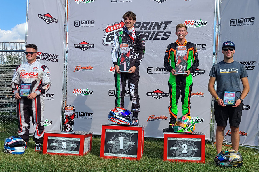 Keegan Bosch swept the final round of the KA100 Senior category (Photo: Route 66 Sprint Series)