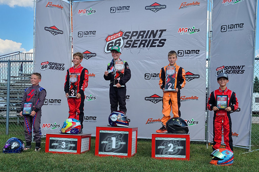Keelan Harvick left Wolf Paving Raceway with two wins in the Micro Swift division (Photo: Route 66 Sprint Series)
