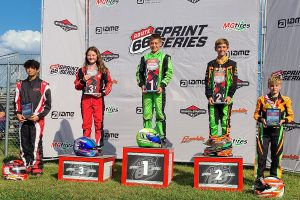 Cade Jaeger scored his first victory of the season in the final round of Mini Swift (Photo: Route 66 Sprint Series)